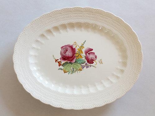 Antique Spode Creamware Wild Rose Serving Platter