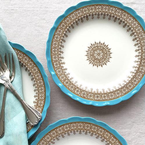 Set of 4 Antique Royal Worcester Dessert Plates