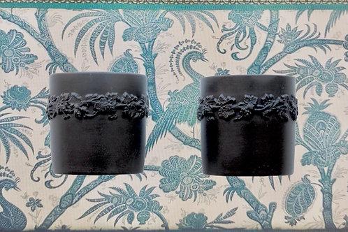 Pair of Wedgwood Black Basalt Tumblers