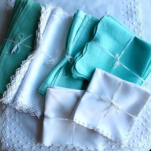 Madeira Linen Napkins, Sets of 4