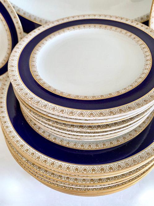 Antique Royal Worcester Complete Dinner Set for 8
