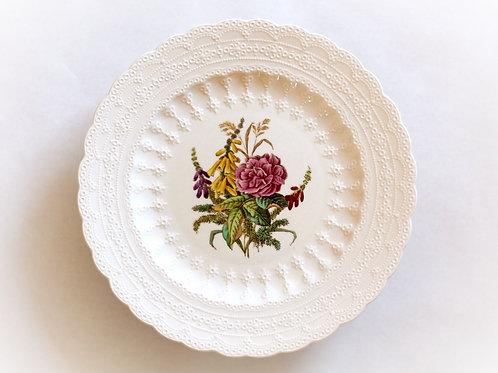 Spode Creamware Wild Rose Dinner Plates