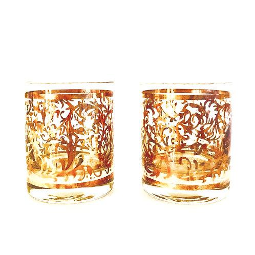 Pair of Venetian Lowball Glasses