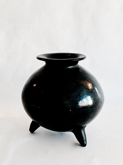 3 Footed Black Pot