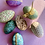 Thumbnail: Hand made green marbled papier mache egg