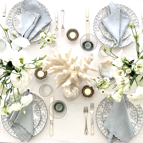 Summer Entertaining Tablescape for 4