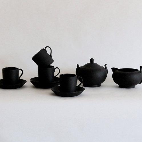 Wedgwood Black Basalt Espresso Set for 4