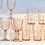 Thumbnail: Rose Pink Swirl Large Wine Glasses