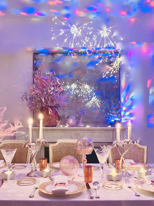 Pink Stardust Holiday Tablescape