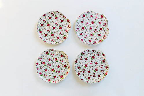 Rose Chintz Snack Plates