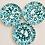 Thumbnail: Vintage Gmundner Keramik Dinner Plates Set Of 3