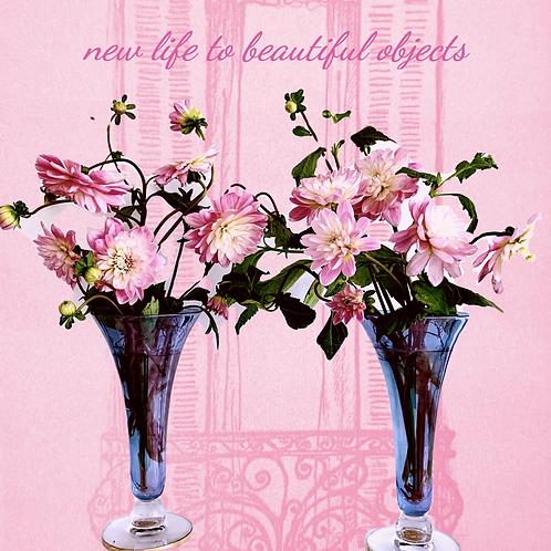 Pair of Art Deco Fluted Vases