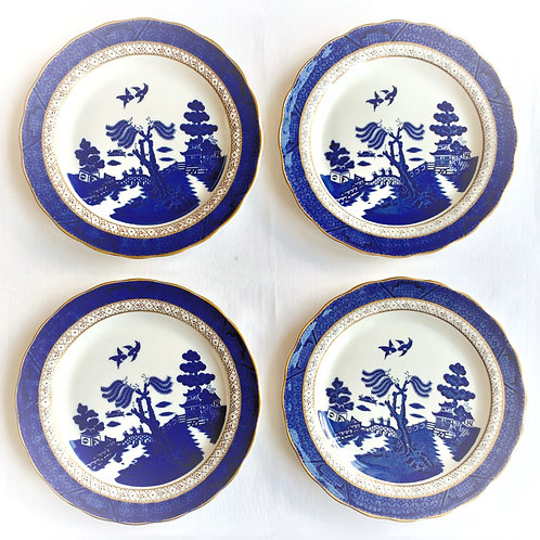 Vintage Booths Old Willow Salad Plates set of 4