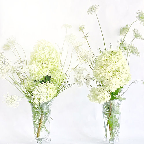 Pair of Crystal Art Deco Vases