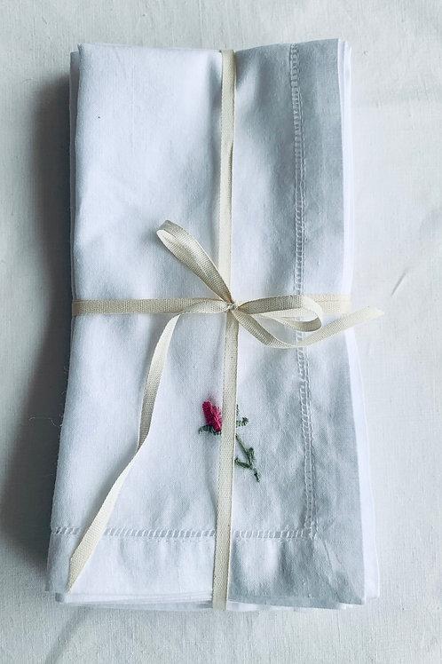 Rosebud Linen napkins