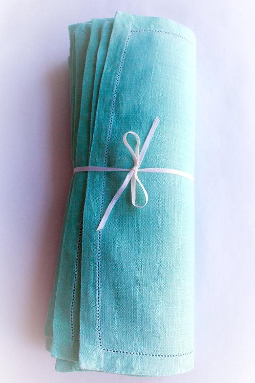 Jade Linen Placemats, Set of 8