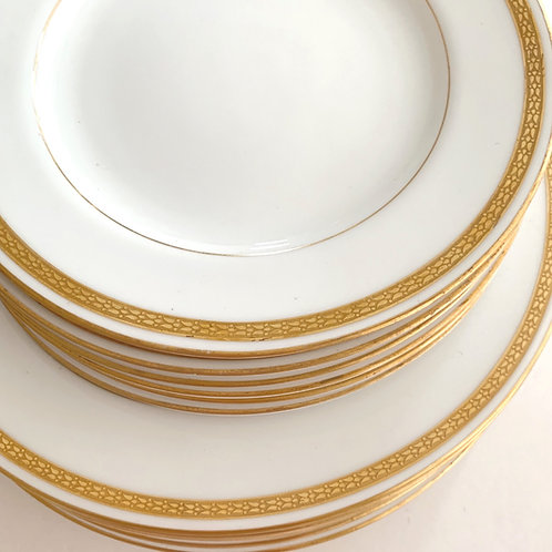 Antique Royal Worcester Dinner and Dessert plates for 6