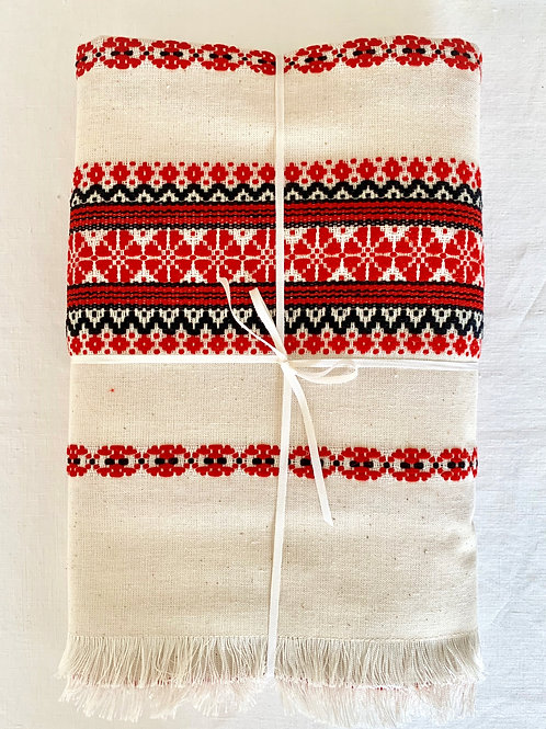 Rustic Tablecloth (Red)