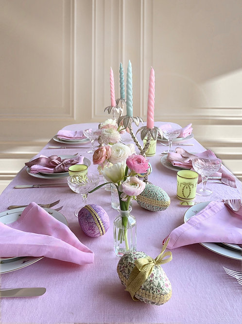 Pretty Pink Easter Tablescape