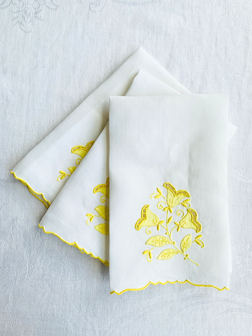 Princess Handmade- Embroidered Hand Towels Set