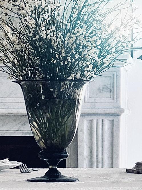 Smoke Art Deco Pedestal Vase