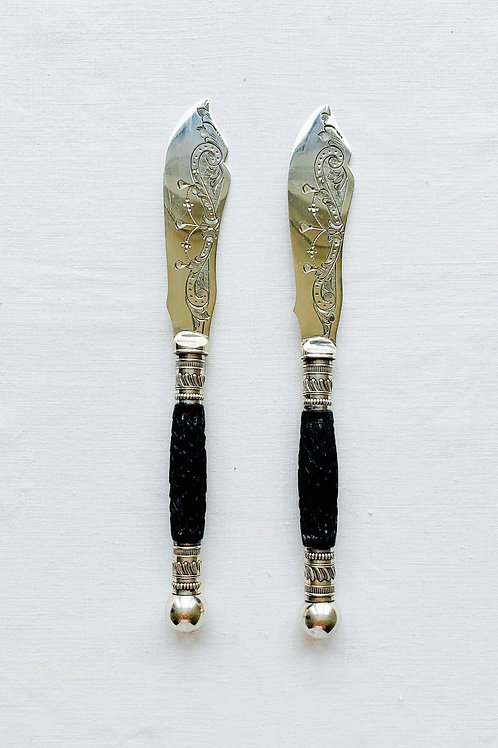 Pair of Victorian Butter Knives