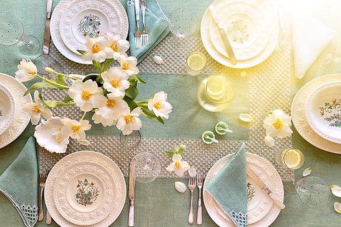 Spring Green Tablescape