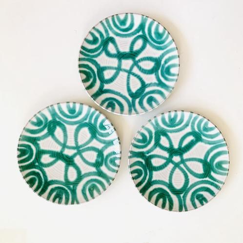 Antique Gmundner Keramik Salad/Dessert Plates Set of 3