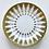 Thumbnail: Pair of Vintage Gold Embossed Dessert Plates