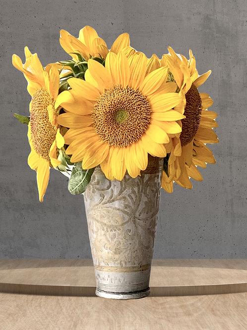 Antique Etched Vase