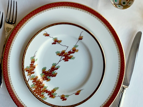 Vintage Valentines Curated Dinner and Dessert Plates for 2