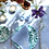Thumbnail: L'Heure Bleue Tablecloth and Napkin Set for 8