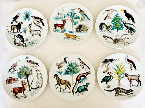 Earthly Paradise Canape Plates Set of 6