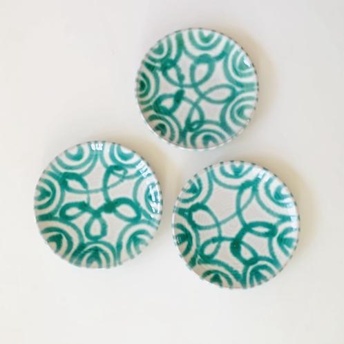 Antique Gmundner Keramik Bread Plates Set of 3