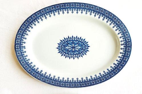 Antique Cobalt Transferware Platters