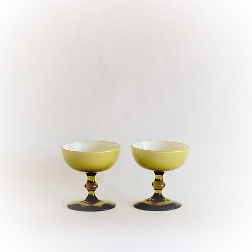 Pair of Carlo Moretti Champagne Coupes