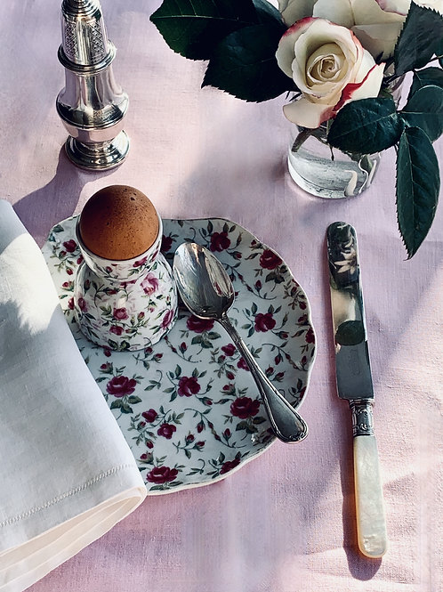 Rose Chintz Double Egg Cups