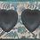 Thumbnail: Pair of Wedgwood Black Basalt Heart-Shaped Bowls
