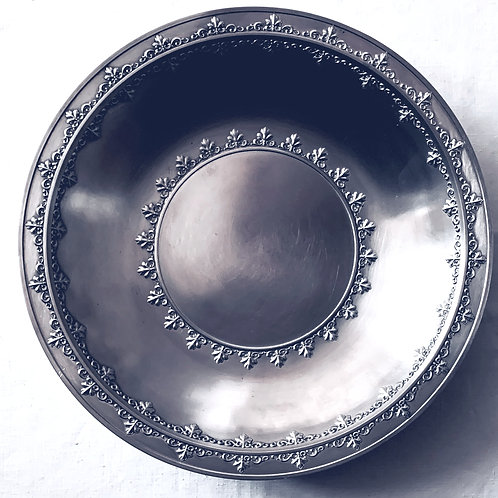 Embossed Pewter Bowl