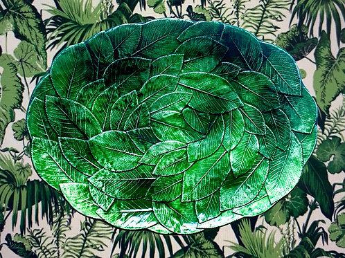Vintage Vietri Large Leaf Platter
