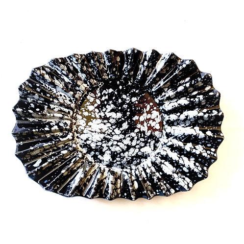 Black Stoneware Small Ceramic Platter
