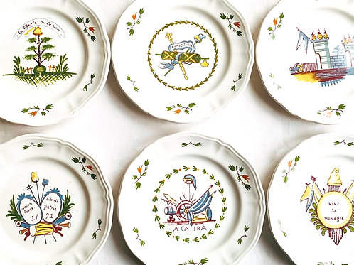 French Revolution Canape Plates Set