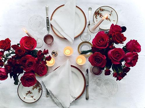 Romantic Dinner Tablescape