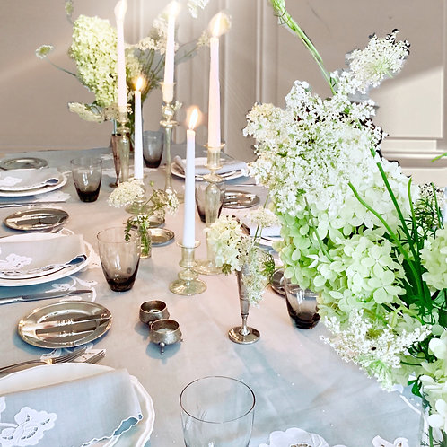 Silver Moon Tablescape