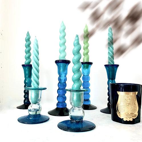 Vintage Handmade Cote D'Azur Candlesticks Set of 6
