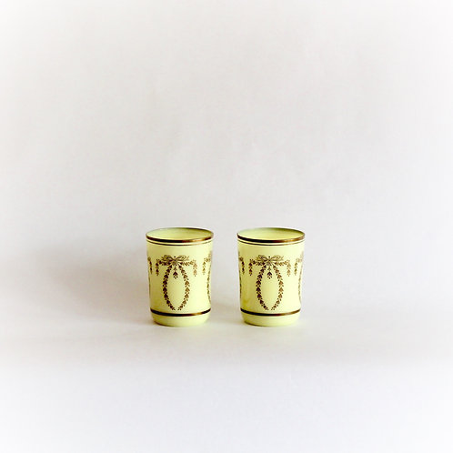 Pair of Portieux Valerystahl Yellow Tumblers