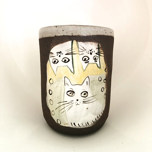 Three cats mug