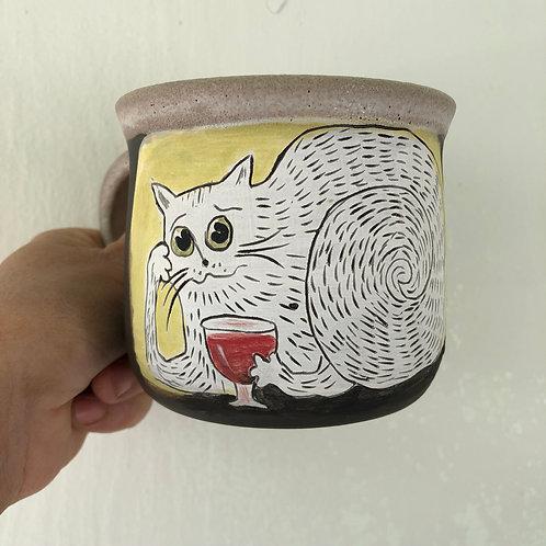 Cheers!!!  Mug with handle.