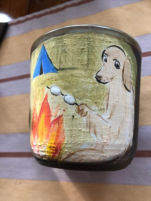 Marshmallow Time. Mug with handle.