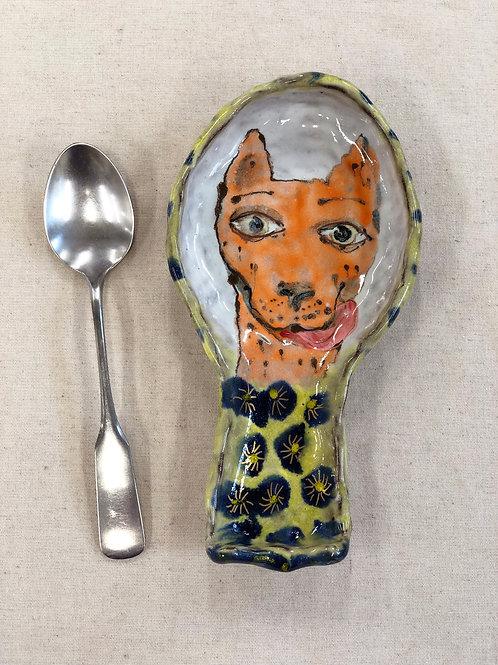 Puppy spoon rest
